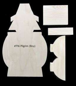 #716 Pilgrim BOY Porch Greeter (WOOD KIT)